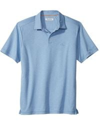Tommy Bahama Men's Pacific Shore Polo - Shadow Hearts - Size S - Blue