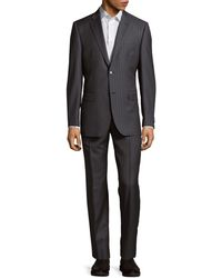 Saks Fifth Avenue Classic-fit Wool Suit - Gray