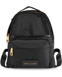 Marc Jacobs Goldtone Zip Backpack - Black
