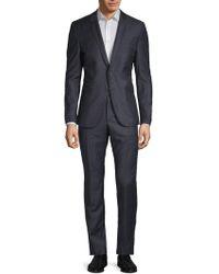 Strellson Vince Madden Chequered Wool Suit - Blue