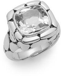 John Hardy Batu Kali White Topaz & Sterling Silver Ring - Multicolor