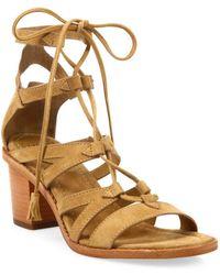 Frye - Brielle Suede Gladiator Sandals - Lyst