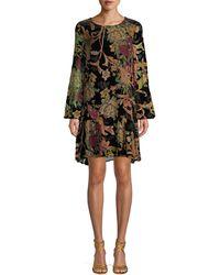 ABS By Allen Schwartz Floral-print Mini Dress - Black