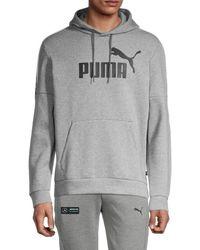 PUMA Men's Amplified Hoodie - Grey - Size M