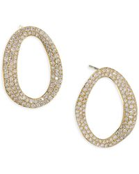 Ippolita Cherish Diamond & 18k Yellow Gold Small Link Earrings - Metallic