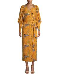 RHODE Aspen Serengeti Wrap Dress - Yellow