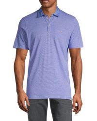Ted Baker Men's Button-pocket Polo - Blue - Size 6 (xxl)