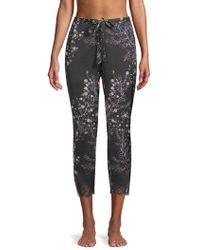 Natori - Floral-print Pyjama Trousers - Lyst