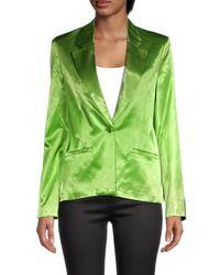 STAUD Women's Madden Satin Blazer - Moss - Size S - Green