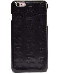 Maison Margiela Numbers Leather Iphone 6 Case - Black