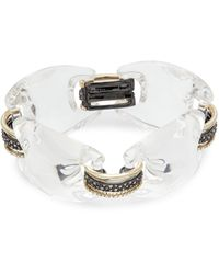 Alexis Bittar 10k Yellow Goldplated, Gunmetal-plated & Lucite Chunky Band Bracelet - Multicolour