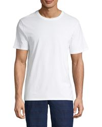 Vince Short-sleeve Cotton Tee - Starfish - Size L - White