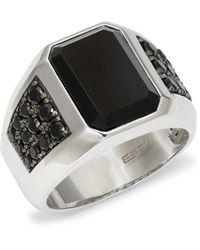 Effy - Sterling Silver, Onyx & Black Spinel Ring - Lyst