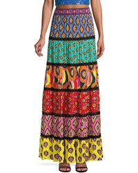 Alice + Olivia Carla Kranendonk X Lesa Panelled Maxi Skirt - Multicolour