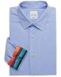 Paul Smith Kensington-fit Dotted Dress Shirt - Blue