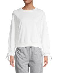 BCBGeneration Knit Sweatshirt - White