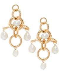 DANNIJO - Women's Luis Goldplated & 9-10mm Baroque Pearl Link-drop Earrings - Lyst