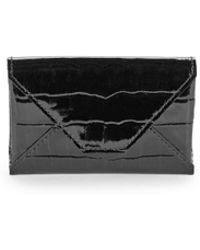 Abas - Embossed Patent Leather Envelope Card Case - Lyst