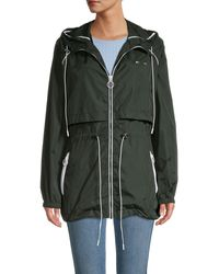 The Upside Ella Contrast Piping Parka - Green