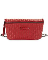 Longchamp Quilted Leather Belt Bag - Red
