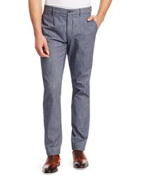 Saks Fifth Avenue Collection Chambray Chinos - Blue