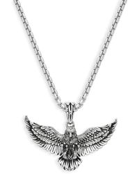 Effy Sterling Silver Eagle Pendant Necklace - Metallic