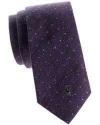 Versace - Dotted Silk Tie - Lyst
