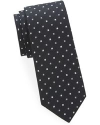 Saks Fifth Avenue - Embroidered Silk Tie - Lyst