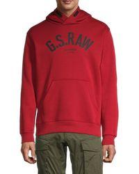 G-Star RAW Loaq Logo Hoodie - Red