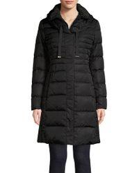 Tahari - Hooded Puffer Jacket - Lyst