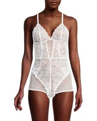 DKNY Superior Lace Romper - White