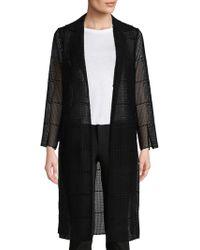 Akris - Open Front Semi-sheer Silk Coat - Lyst