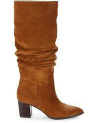 Saks Fifth Avenue Julian Suede & Leather Knee-high Boots - Brown