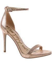 Sam Edelman Ariella Metallic Leather Dress Sandals