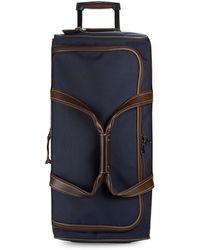Longchamp Two-tone Canvas Wheeled Luggage - Blue