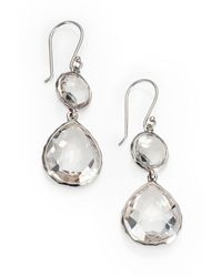 Ippolita Mother-of-pearl Wonderland Teardrop Earrings In Oyster - Metallic