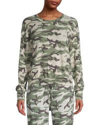 Michael Stars Women's Camo-print Sweatshirt - Olive Multi - Size Xs - Green