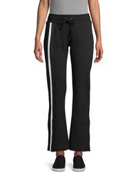 David Lerner Striped Tape Cotton Sweatpants - Black