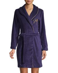 Juicy Couture - Scripted Velour Robe - Lyst