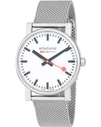 Mondaine Stainless Steel Bracelet Watch