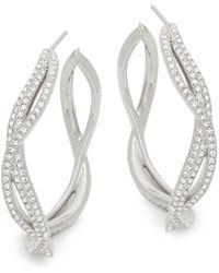 Adriana Orsini - Helix Cubic Zirconia Hoop Earrings - Lyst