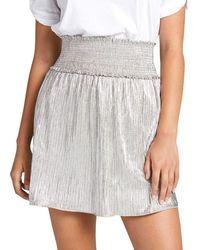 A.L.C. Women's Isla Metsmocked Skirt - Silver - Size 4 - Metallic