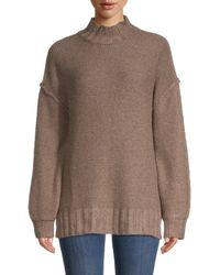 Olive & Oak Mockneck Sweater - Brown