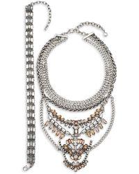 BaubleBar Xenia Choker & Bib Necklaces - Multicolour