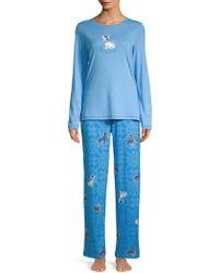 Hue - Two-piece Snuggy Dog Pajama Set - Lyst