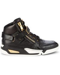 Versace Medusa Leather High-top Trainers - Black