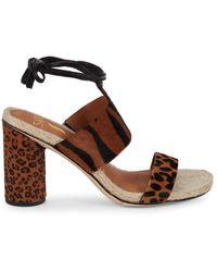 Sarto Obi Calf Hair Heeled Sandals - Brown