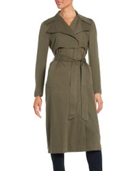 Karl Lagerfeld Belted Trench Coat - Green
