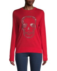 Zadig & Voltaire Women's Miss Skull Merino-wool Long-sleeve Sweater - Rouge - Size Xs - Red