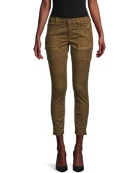Joie Cheetah-print Cropped Jeans - Multicolour
